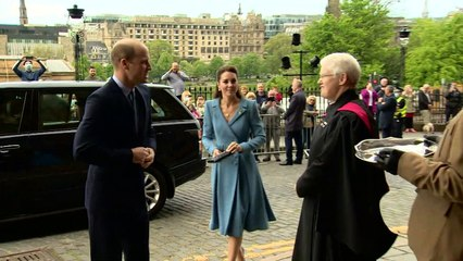 Kate and William Church of Scotland arrival