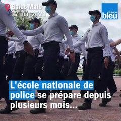 Dernière répétition à Saint-Malo pour le défilé du 14 juillet sur les Champs-Élysées