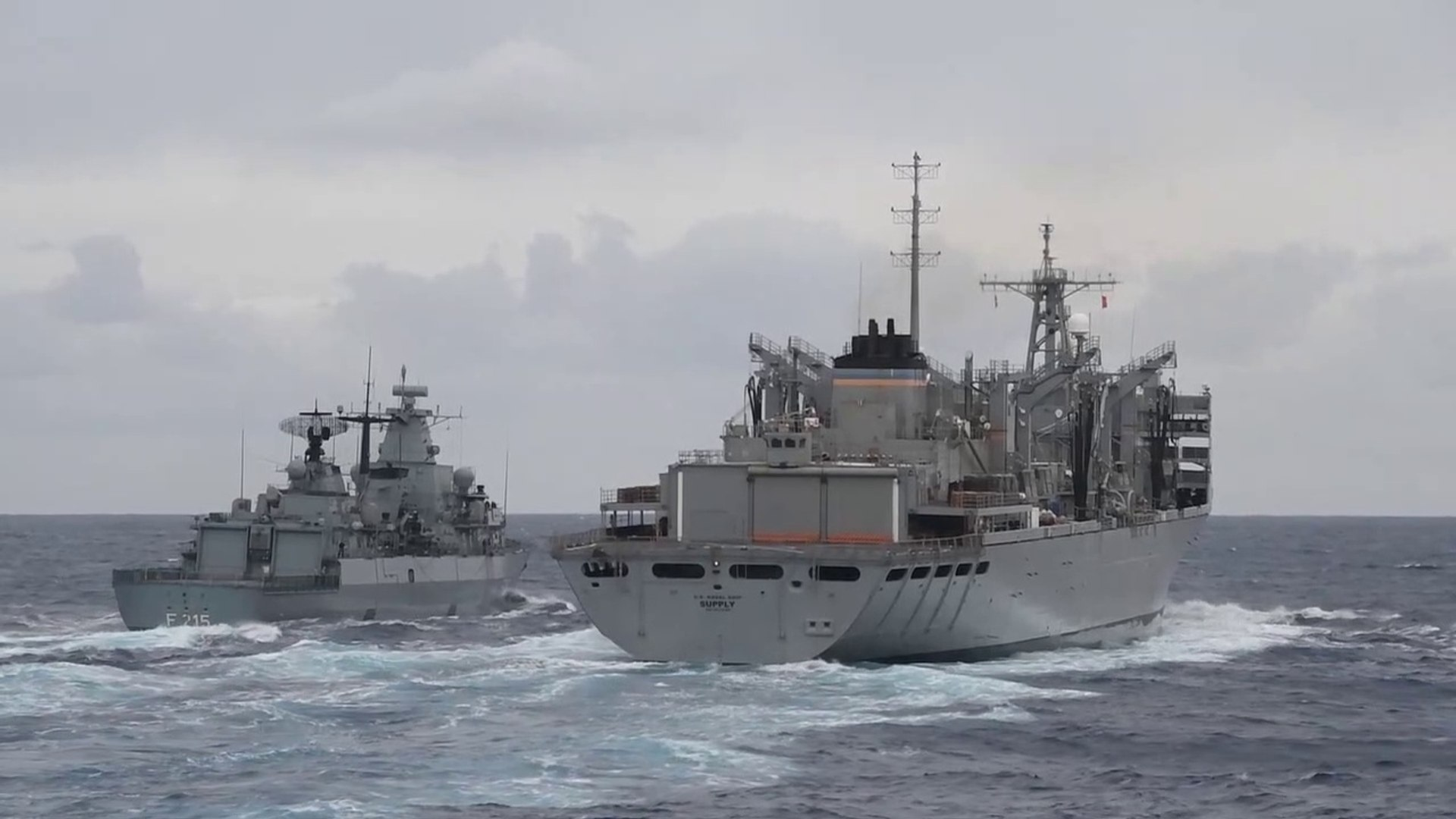 Canadian, German, Spanish, Italian, Warships • NATO Exercise off of the Coast of Portugal • May 23