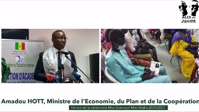 Ministre Amadou Hott, Parrain de la Cérémonie Miss Sciences-Miss Maths 2020-2021