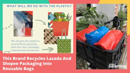 This Brand Recycles Lazada And Shopee Packaging Into Reusable Bags