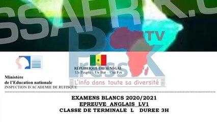 Sujet d'examen blanc en anglais à Rufisque, un jeune annonce son homosexualité à ses parents