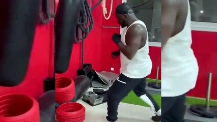Comme un boxeur professionnel, Aziz Ndiaye très efficace à l'entrainement