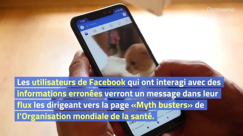 Facebook : une alerte pour les fake news sur le coronavirus