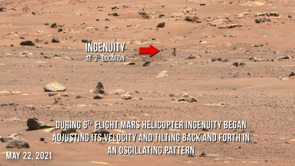 Ingenuity Mars Helicopter almost crashed during 6th flight but survived after anomaly