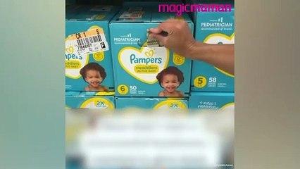 Un couple cache de l'argent dans des produits pour bébé pour aider les familles