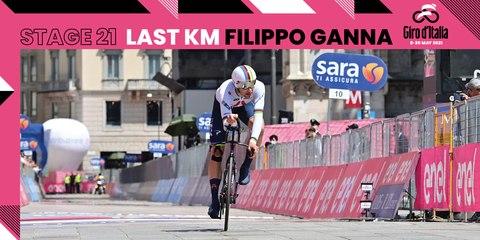 Giro d'Italia 2021 | Stage 21 | Filippo Ganna Last KM