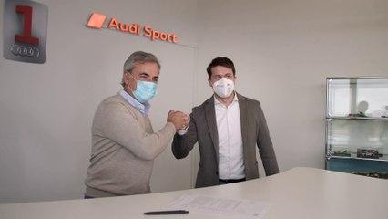 Carlos Sainz, con Audi en el Dakar 2022