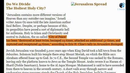 كيف أصبحت القدس قلب الصراع في الشرق الأوسط ومسرحا لحرب آخر الزمان؟