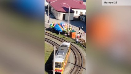 Girls, 3 and 4, critically hurt after bouncy castle explodes and hurls them 25ft