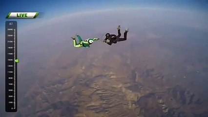 Luke Aikins attempts highest skydive without a parachute