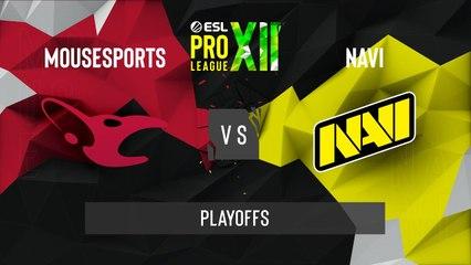 CSGO - Natus Vincere vs. mousesports [Dust2] Map 2 - ESL Pro League Season 12 - Playoffs - EU
