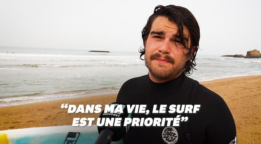 Ces surfeurs qui bravent le confinement au Pays basque
