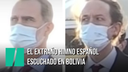 El rey Felipe VI llega a Bolivia y le reciben con esta versión del himno de España: su cara y la de Iglesias lo dicen todo