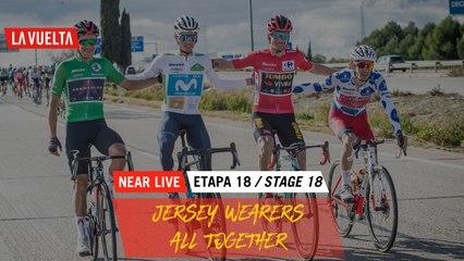 Jersey wearers all together / Les porteurs de maillots tous ensemble - Étape 18 / Stage 18   La Vuelta 20