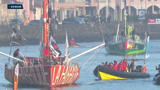 Vendée Globe 2020/2021 : Revivez le départ des 33 skippers du #VG2020 depuis les pontons et le canal des Sables d'Olonne.