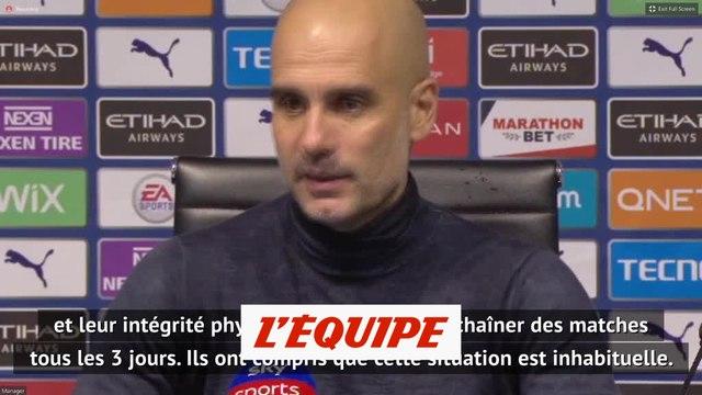 Guardiola : « Il faut protéger la santé des joueurs » - Foot - ANG - City