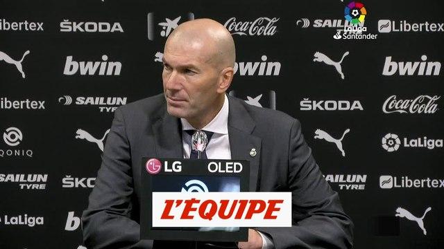 Zinédine Zidane : « Aucune justification, aucune excuse » - Foot - ESP - Real