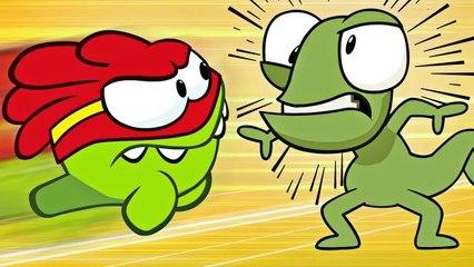 Om Nom Stories: Super-Noms - Grocery Store Brawl - Funny cartoons for kids
