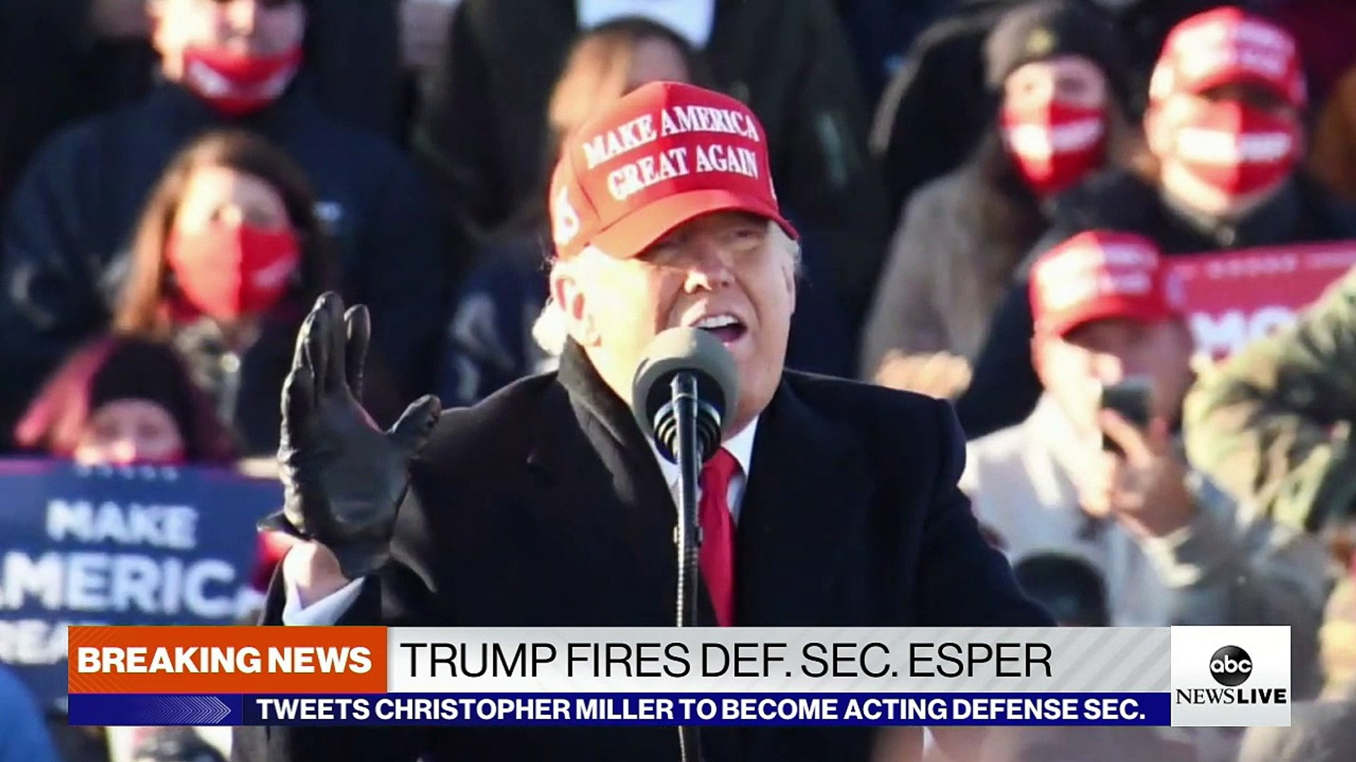 President Trump fires Defense Secretary Mark Esper - video dailymotion