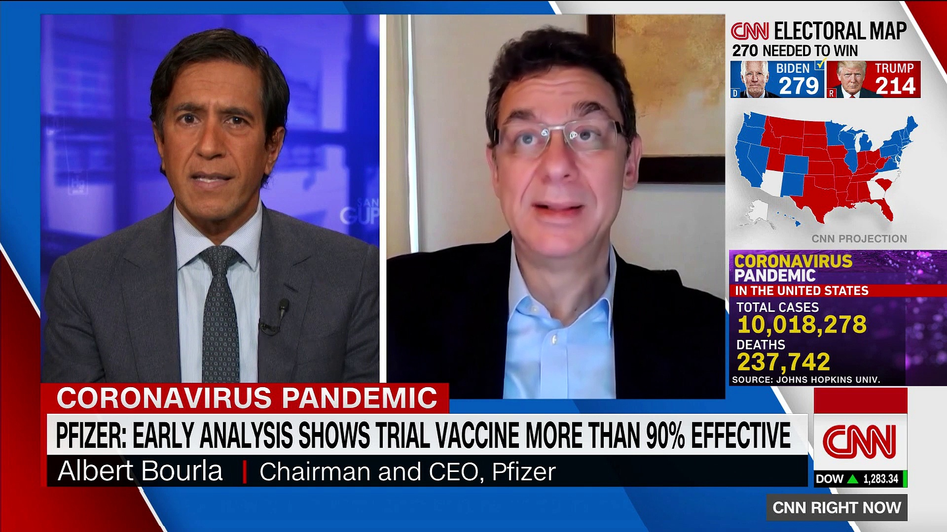 Pfizer CEO says Covid-19 vaccine news is a 'game changer'
