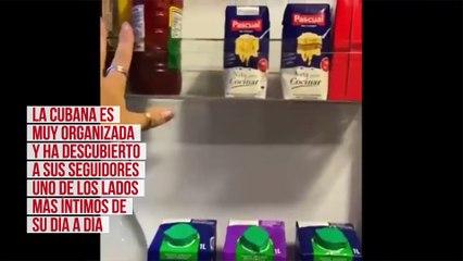 Elena Tablada abre las puertas... ¡de su nevera!