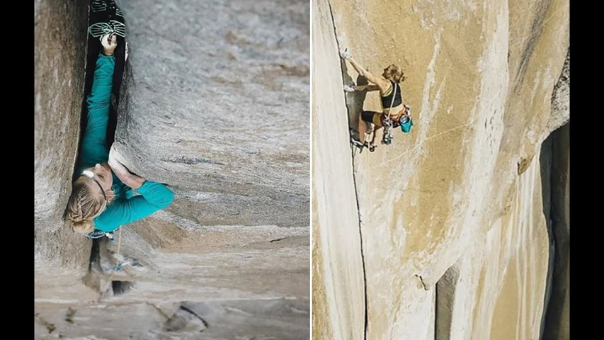 Emily Harrington becomes first woman to free climb El Capitan in one day