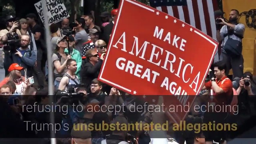'This isn't over!' Trump supporters refuse to accept defeat