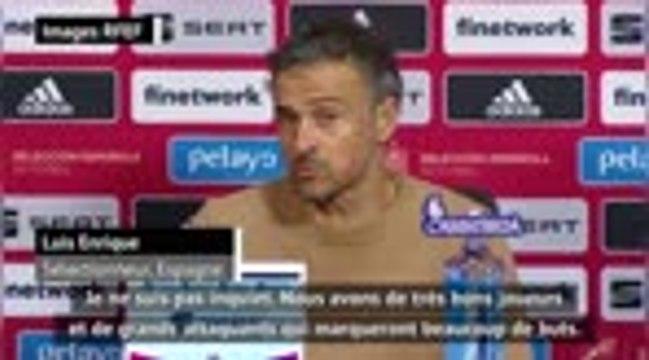 """FOOTBALL: International: Espagne - Enrique : """"On va marquer des buts, je ne suis pas inquiet"""""""