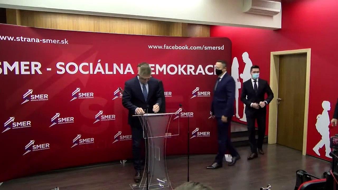 ZÁZNAM: TK predstaviteľov strany Smer - sociálna demokracia