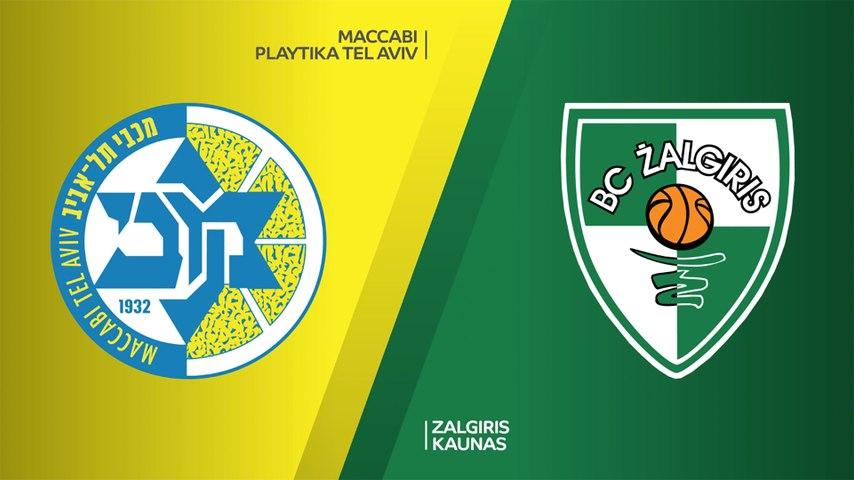 Maccabi Playtika Tel Aviv - Zalgiris Kaunas Highlights | Turkish Airlines EuroLeague, RS Round 8