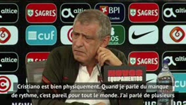"""Ligue des Nations - Santos : """"Ronaldo ? Physiquement, il est bien"""""""