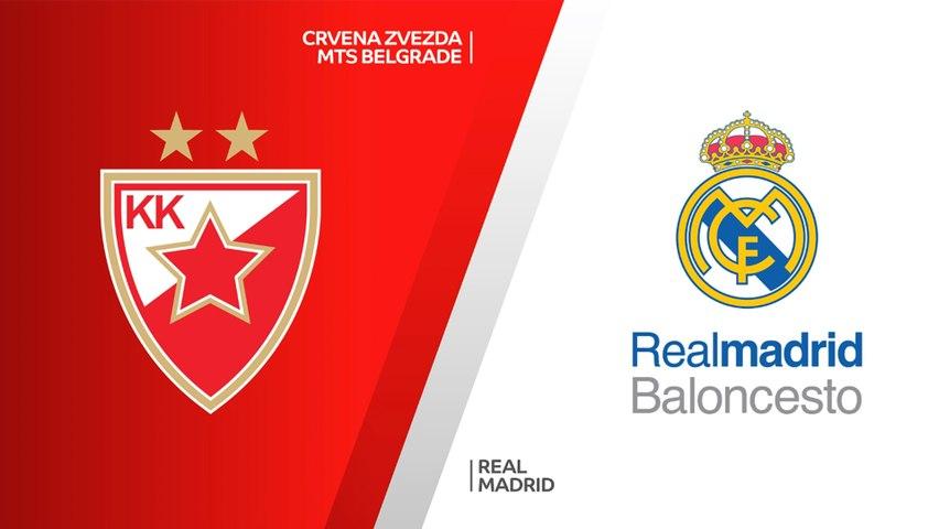 Crvena Zvezda mts Belgrade - Real Madrid Highlights   Turkish Airlines EuroLeague, RS Round 8