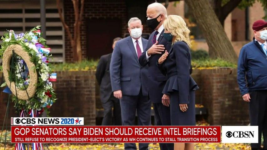 Growing number of GOP senators say President-elect Biden should receive intelligence briefings