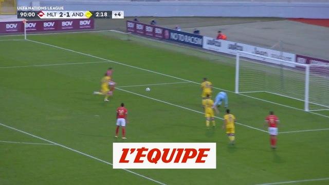 Les buts de Malte - Andorre - Foot - Ligue des nations