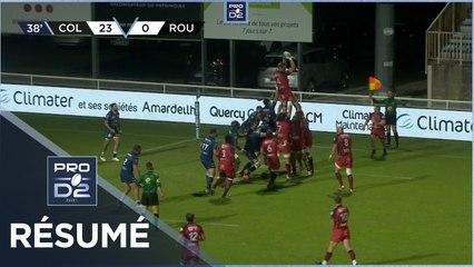 PRO D2 - Résumé Colomiers Rugby-Rouen Normandie Rugby: 26-12 - J2 - Saison 2020/2021