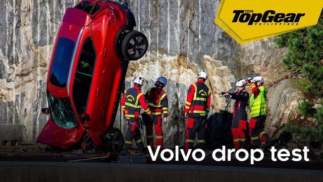 Volvo drops cars to help train rescuers