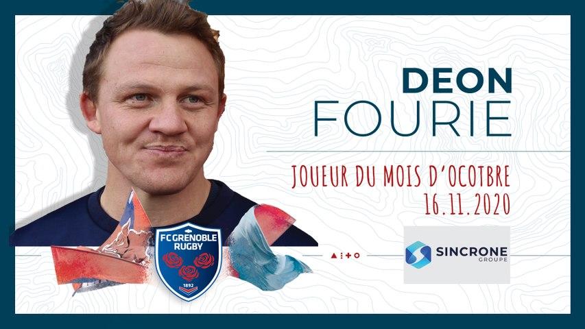 Rugby : Video - Deon Fourie, joueur du mois d'octobre
