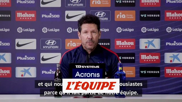 Diego Simeone : « Joao Felix progresse tous les jours » - Foot - ESO - Atlético