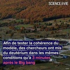 Big bang : on a recréé les 1ères minutes de la naissance de l'Univers
