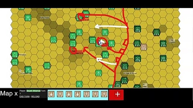 Nodhood Mountain Area - Hex Counter Wargame
