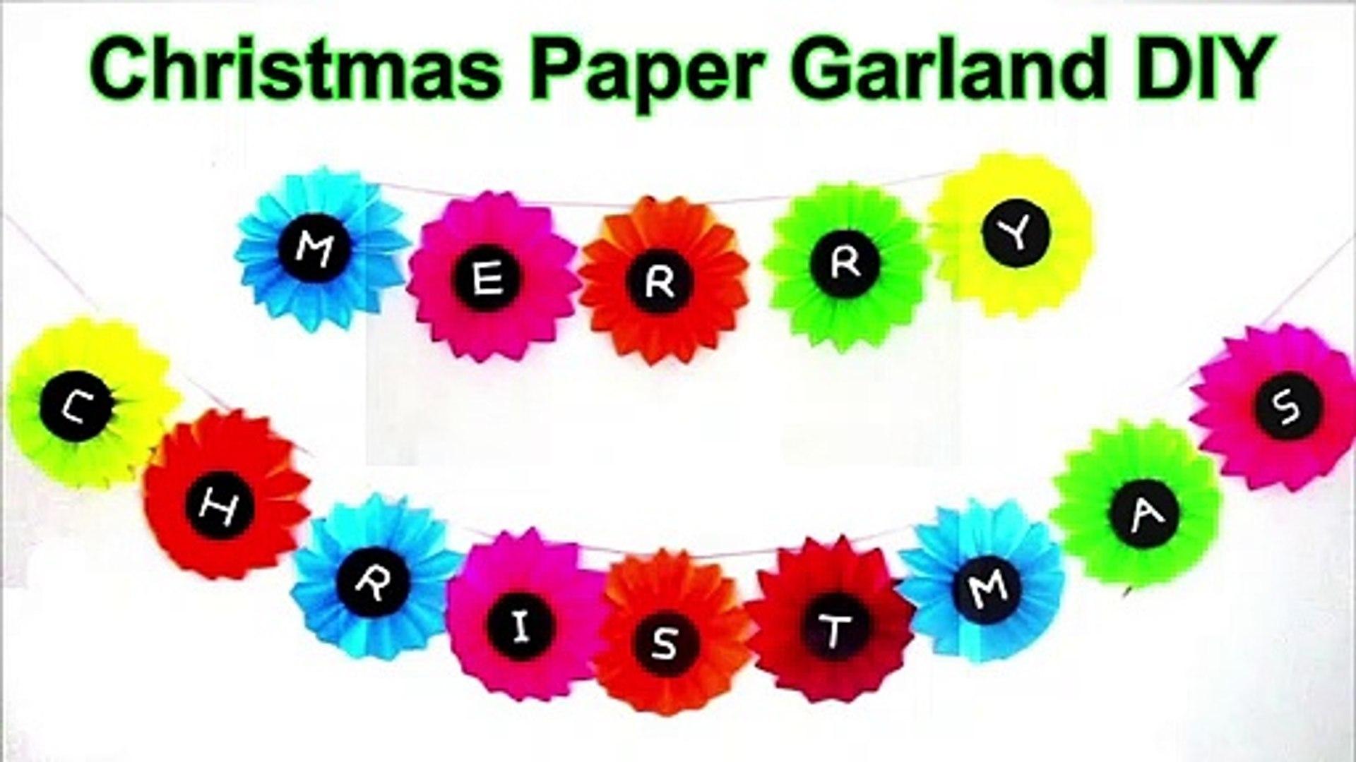 Christmas Paper Garland DIY   Christmas Decorations Ideas 2020   Christmas Garland Ideas   Homemade