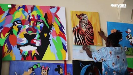 11-Year-Old Girl Gifts Raila a Painting