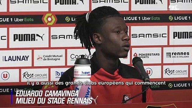 """Rennes : """"Rester dans mon club formateur me ferait plaisir"""" assure Camavinga"""