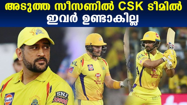 CSK might be remove this players before next season
