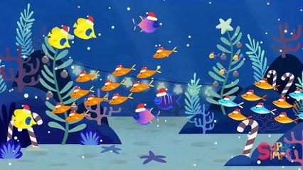 Santa Shark - Baby Shark Christmas Song featuring Finny The Shark