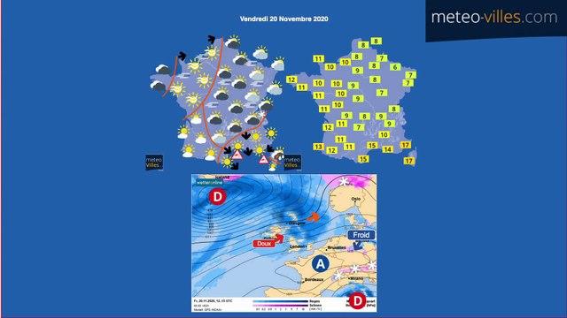Bulletin météo du jeudi 19 novembre 2020