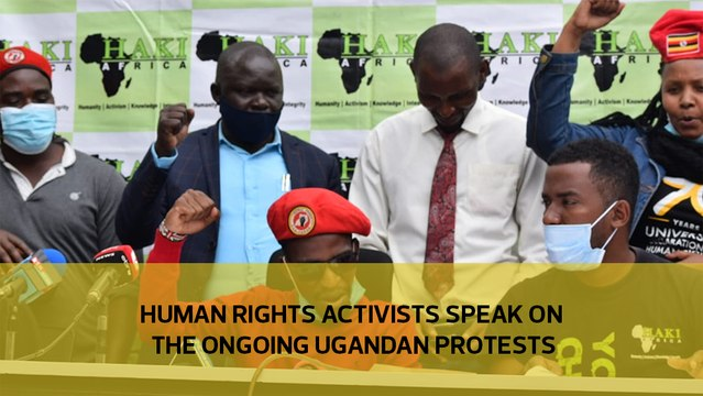 Human rights activists speak on the ongoing Ugandan protests