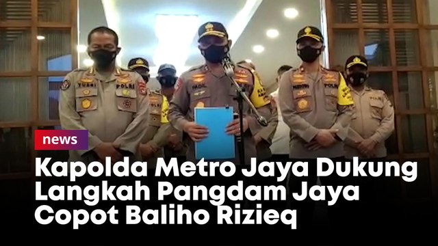 Kapolda Metro Jaya Dukung Langkah Pangdam Jaya  Copot Baliho Rizieq