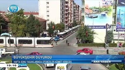 Hafta sonu yasaklarında otobüsler hizmet verecek